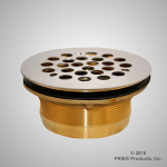 Prier - Drainage Products - P-310 / P-311 - Brass Drain for Preformed Shower Base