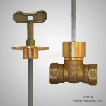 Prier - Specialty Valves - C-67 - Three Way Brass Below-the-Joist Fireplace Shutoff
