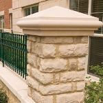 Reading Rock - RockCast Cast Stone Pier, Wall Cap, & Coping