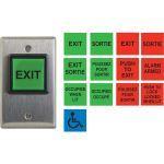 Camden Door Controls - CM-30 Series Square LED Illuminated Push/Exit Switch