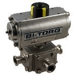 BI-TORQ Valve Automation - IS-3WTC (3-Way Sanitary ) Electric Actuator Ball Valves