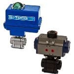 BI-TORQ Valve Automation - FS-3PT (fire safe SS) Electric Actuator Ball Valves