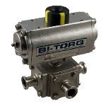 BI-TORQ Valve Automation - Automated 3-Way Sanitary Clamp End Ball Valves