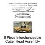 Eagle Mouldings - 5 Piece Interchangeable Cutter Head Assembly