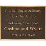 Bronze Memorials - Dedication Plaques