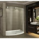 Aston Global - SDR981 Zenarch Completely Frameless Bowfront Sliding Shower Door