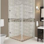 Aston Global - SEN963 Claridge GS Frameless Square Shower Enclosure with Shelves and Starcast Coating
