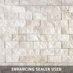 Floor & Decor - Rock Ridge Pearl Stacked Stone Brick Marble Mosaic