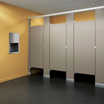 Global Partitions - Black Core Phenolic Toilet Partions