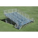 Outdoor Aluminum, Inc. - Steel Galvanized Elevated Portable Bleacher