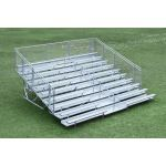 Outdoor Aluminum, Inc. - Tube Square Angle Portable Bleacher