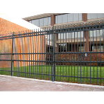 Ameristar Fence Products - Stalwart II Anti-Ram Barrier with Ornamental Steel Fence