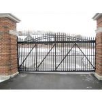 Ameristar Fence Products - TransPort Estate Arched Entry Cantilever Gates