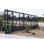 Ameristar Fence Products - TransPort Link Sliding Cantilever Gates - With Extended Uprights for Barbed Wire