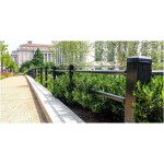 Ameristar Fence Products - Stalwart Anti-Ram Post & Rail Barrier