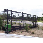 Ameristar Fence Products - TransPort Link Cantilever Gate with Chain Link Infill