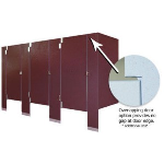 General Partitions Mfg. Corp. - Solid Phenolic Core Toilet Partitions
