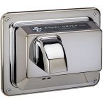 Excel Dryer, Inc. - Hands Off™ Series Recessed Mounted, Automatic, Chrome Plated Cover Hand Dryer