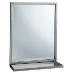 Bobrick Washroom Accessories, Inc. - B-292 1836 Welded-Frame Mirror/Shelf Combination