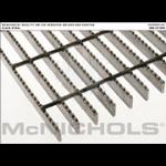 "McNichols Co. - Bar Grating, Plain Steel, Welded, GW Series, GW 100 Serrated, 24.0000"" x 240.0000"" - 6601310222"