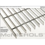 "McNichols Co. - Bar Grating, Stainless Steel, Welded, GW Series, GW 100, 36.0000"" x 240.0000"" - 6801310732"