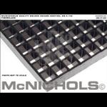 "McNichols Co. - Molded Grating, Fiberglass, SGF Polyester Resin, Dark Gray 1-1/2"" Square Grid, 1-1/2"" Thickness, Con"