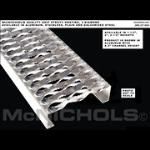 "McNichols Co. - GRIP STRUT® Plank Grating, Plain Steel, 2"" Channel, 7.0000"" x 120.0000 - 2603201410"