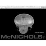 McNichols Co. - Dished Disk End Cap Plain Steel - WMDOC166D