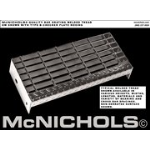 "McNichols Co. - Bar Grating Stair Tread, Type B - Standard, Galvanized, Checker Plate Nosing, GW 100, 1"" x 3/16"" Bea"
