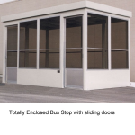 Little Buildings, Inc. - Bus Stop - 8' x 15' Totally Enclosed