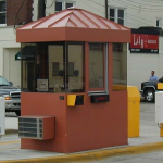 Little Buildings, Inc. - Cashier Booth Panorama Series 4'x6' With Standing Seam Roof