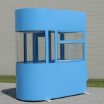Little Buildings, Inc. - Parking Booth 4' x 8' One End Curved Building