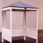 Little Buildings, Inc. - 5' x 6' Automated Pay Machine Canopy With Pyramid Roof