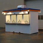 Little Buildings, Inc. - Portable Box Office 5' x 12' with Standing Seam Roof