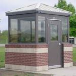 Little Buildings, Inc. - Guard Shack 8' X 10' Ready-to Brick with Standing Seam Roof