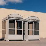 Little Buildings, Inc. - Bus Stop with Barrel Vault Roof 6'X8'