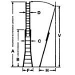 Alaco Ladder Company - 5230 & 5240 Aluminum Extension Ladder with U-2 Channel Side Rail
