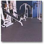 Action Floor Systems - ACTION REFLEX™ - recycled rubber for weight rooms, fitness suites, spike/blade resistant
