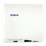 Bradley Corporation - 2902-28 Aerix Hand Dryer, Adjustable Speed, Universal Voltage - White Porcelain