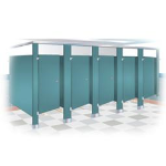 Bradley Corporation - Powder Coated Steel Toilet Partitions and Urinal Screens
