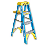 The Sherwin-Williams Company - Werner 4' Blue Fiberglass Stepladder with Pail Shelf - Type I
