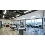 Rockfon - Rockfon® Intaline™ V-Base Metal Baffle Ceilings