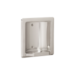 Seachrome Corporation - Recessed Soap and Tumbler Holder with Metal Lip