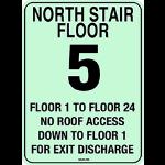 Balco, Inc - Stairway Identification Signage - signage