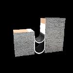 Balco, Inc - MetaMat™ 2 Hour Floor Fire Barrier - MFV2H-6-50% Floor to Wall