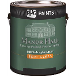 PPG PAINTS™ - MANOR HALL® Exterior 100% Acrylic Latex Semi-Gloss Paint