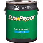 PPG PAINTS™ - SUN-PROOF® Exterior House and Trim Satin Latex 100% Acrylic Paint