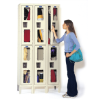 Art Metal Products, Inc. - SAFETY-VIEW & SAFETY-VIEW PLUS STOCK KD WINDOWED LOCKERS
