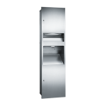 American Specialties, Inc. - 64672-2 Semi-Recessed Three-in-One Combination Unit with High-Speed Hand Dryer