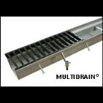 "MultiDrain Systems, Inc. - MultiDrain Steel Trench Drain - Series 1200, 12"" Width"